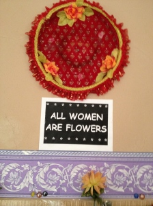 All Women Are Flowers--Sign in Turkish Public Restroom