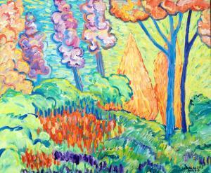 Adam & Eve Hiding in the Garden of Eden